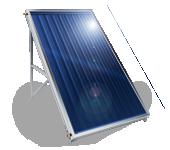 Слънчев колектор плосък, с алуминиев оребрен абсорбер, 2 кв.м.