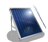 Слънчев колектор плосък, с алуминиев оребрен абсорбер, 1.5 кв.м.